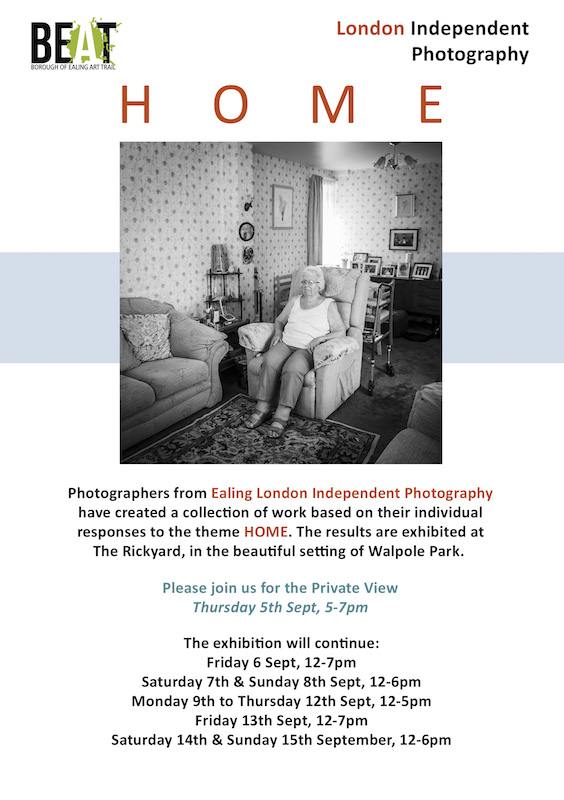 Ealing LIP photo exhibition flyer